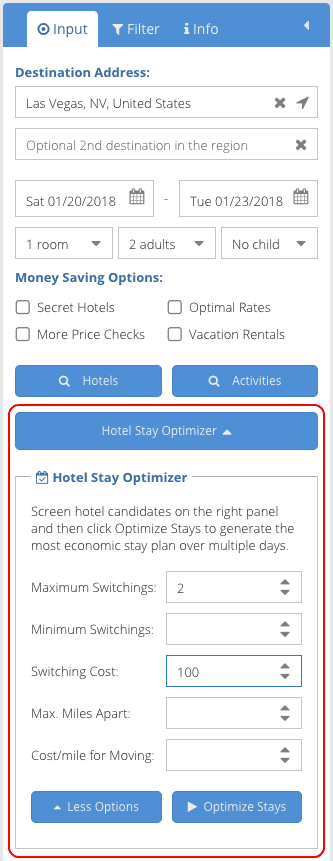 Hotel Saving Optimization